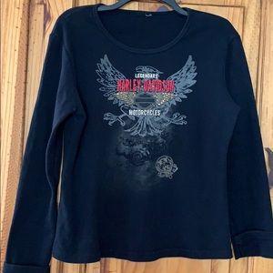 Tops - Women's Bling Harley shirt.